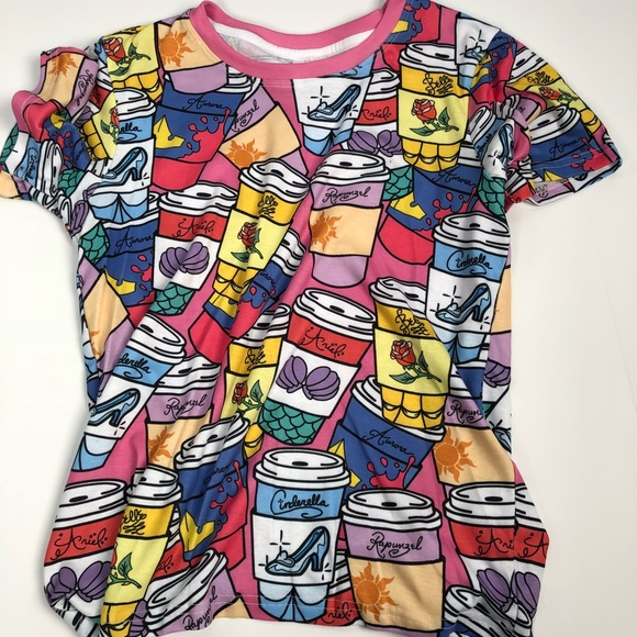 455324961 Disney Tops | Parkbound Princess Starbucks Coffee Shirt | Poshmark